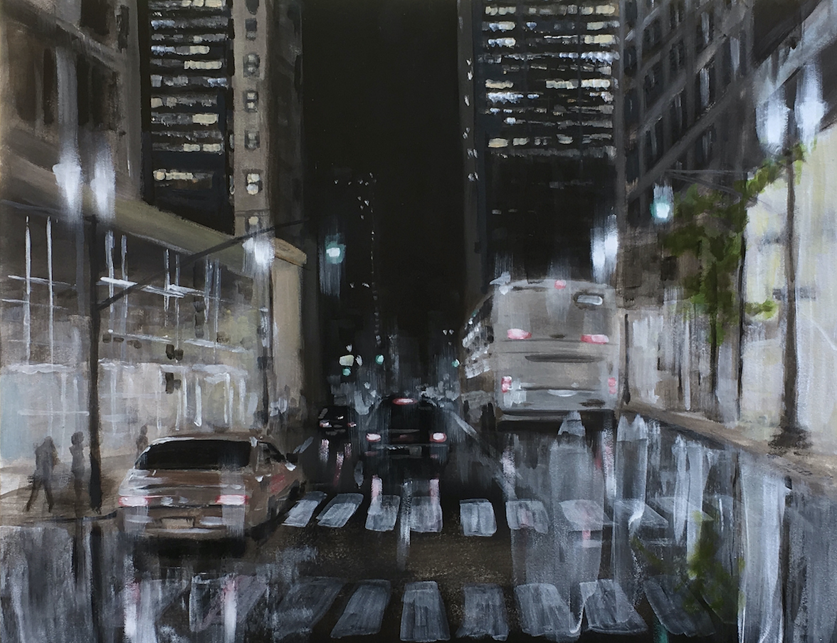 George H Hayes III: NY Street Night
