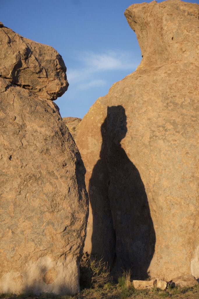 Irene Garden - Shadow Series: Pregnant Rock Woman