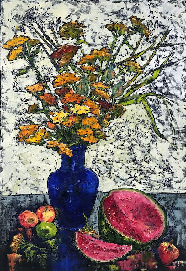 Vera Neel: Still Life with Blue Vase