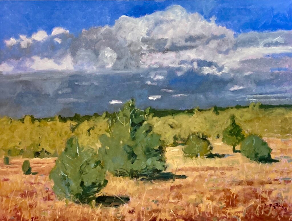 Santiago Pérez: Summer Clouds, Apple Valley