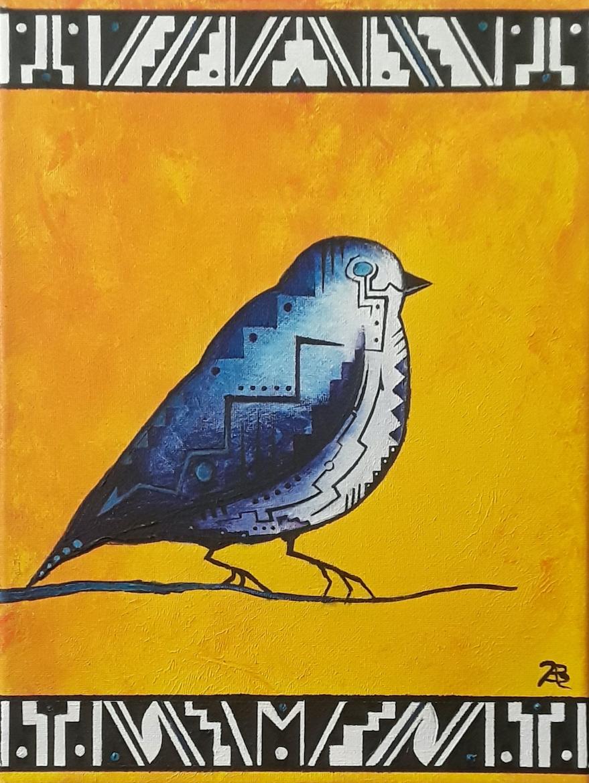 Brandon Allebach: Abstract Bird in Yellow