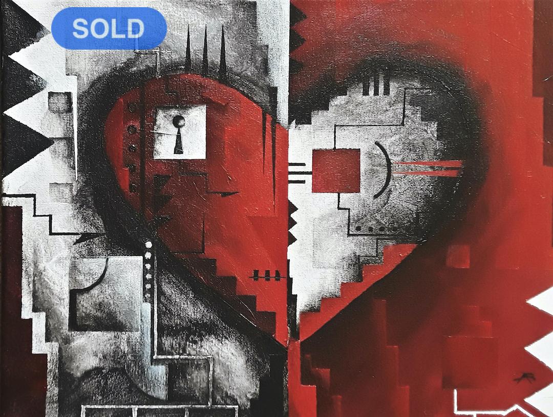 Brandon Allebach: Abstract Heart SOLD