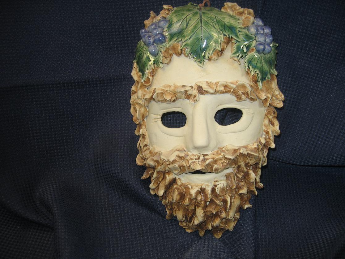 Rick Snow: Bacchus Mask - Ceramic