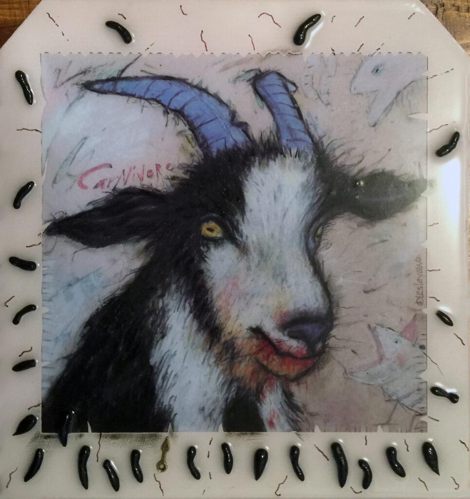 Lesley Long: Blue Horns, the Goat