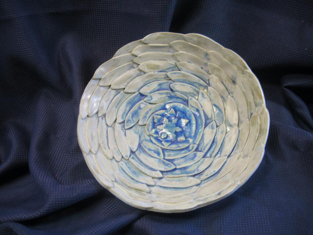 Rick Snow: Blue Spiral Bowl