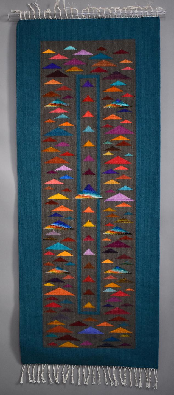 Donna Loraine Contractor: Confetti, Skinny Purple Triangle Top