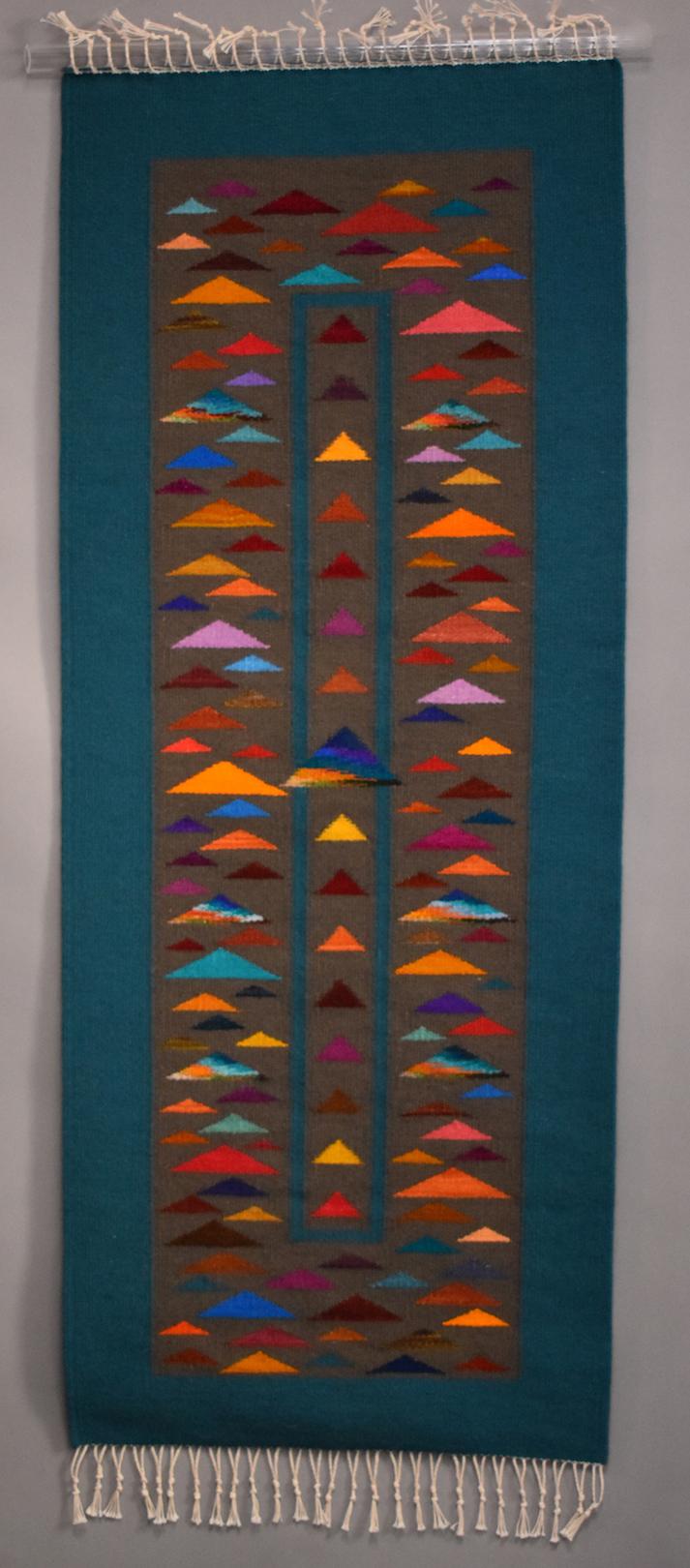 Donna Loraine Contractor: Confetti, Skinny, Red Triangle Top