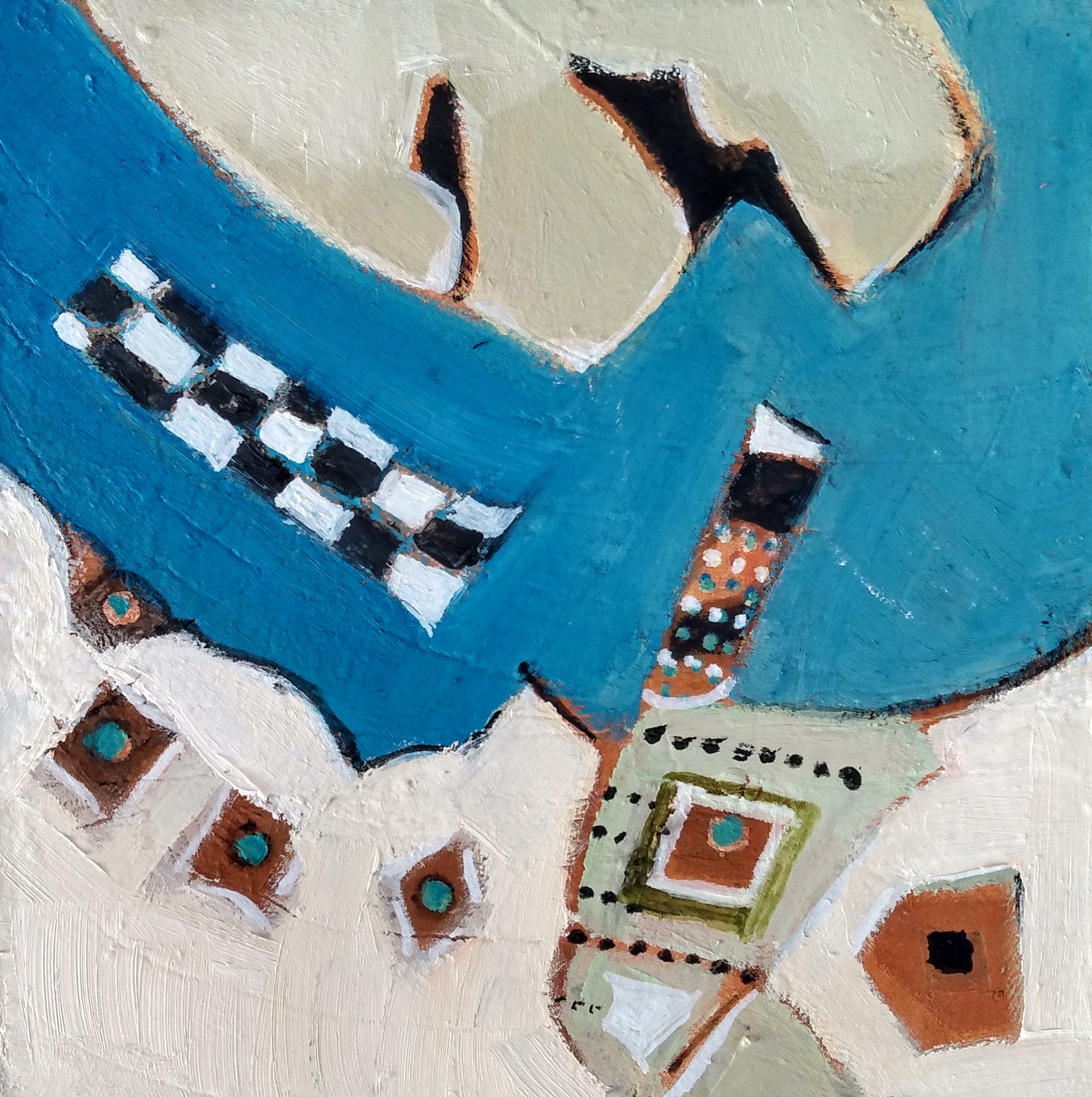 Harriette Tsosie: Checkered #10
