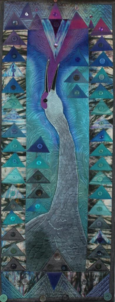 Judith Roderick: Crane Calling - Art Quilt