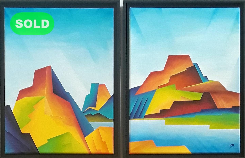 Brandon Allebach: Cubist Landscape Diptych