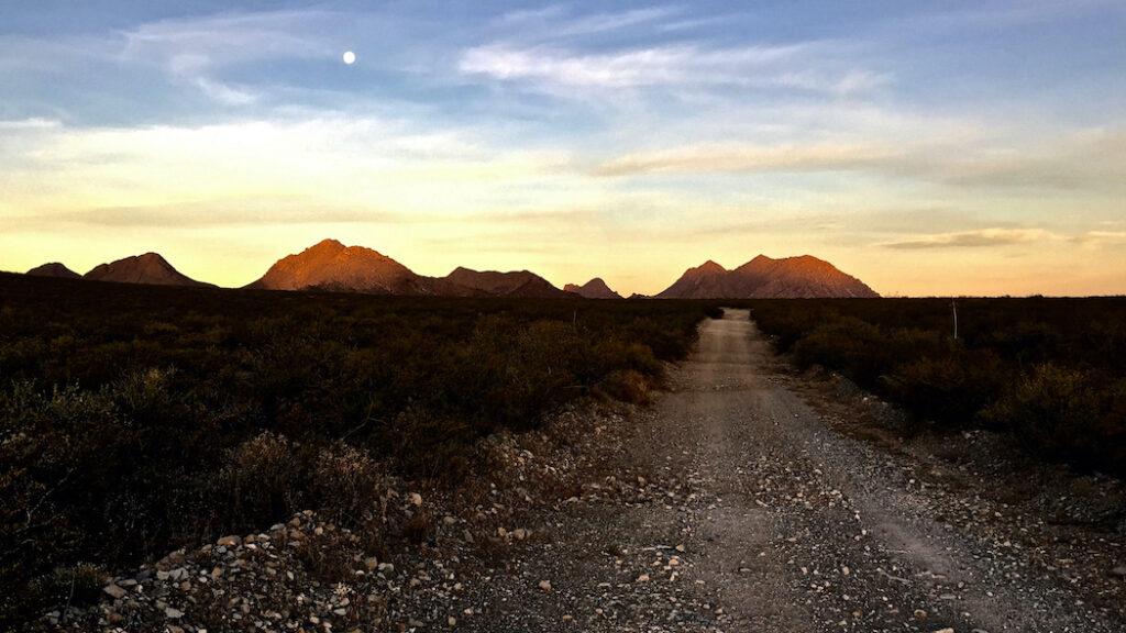 David D. Sorensen: First Sun on Dona Ana Mountains
