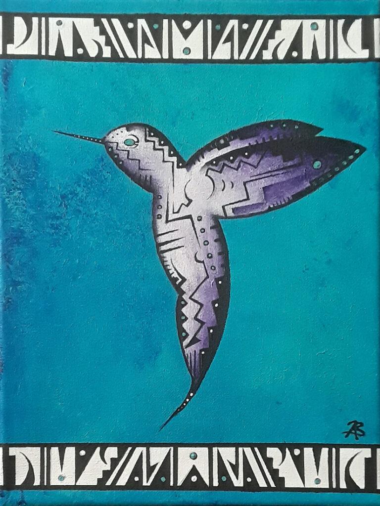Brandon Allebach: Hummingbird in Blue