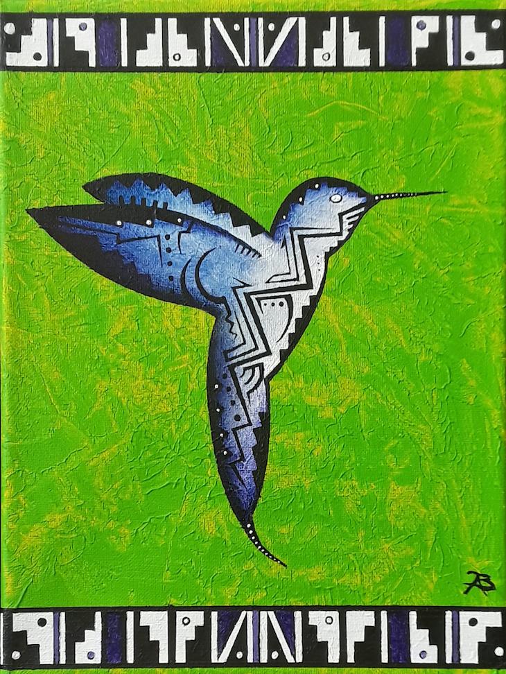 Brandon Allebach: Hummingbird in Green