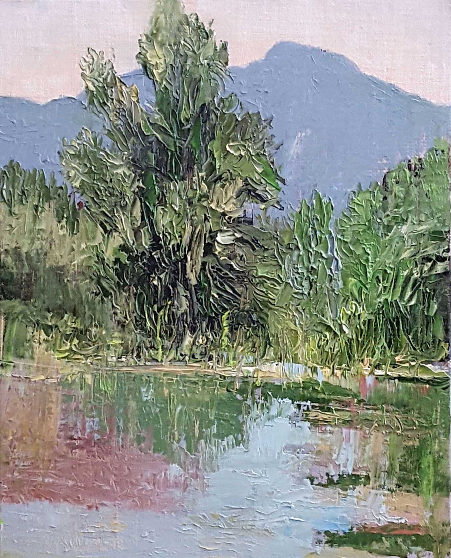 James Naugle: Morning at the Rio Grande Open Space Pond