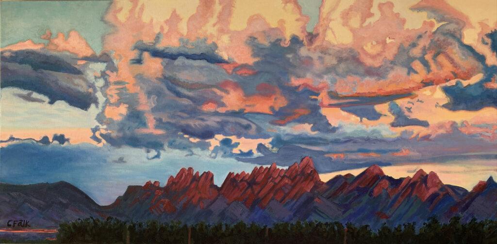 Connie Falk: Organ Mountain Sunset