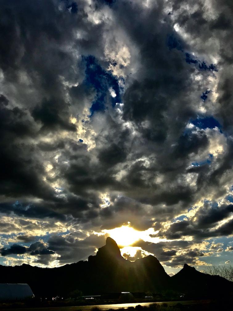Picacho Peak Sunburst