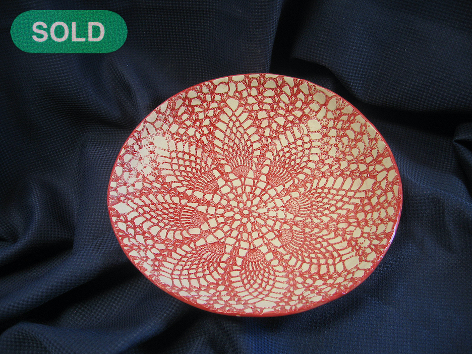 Rick Snow: Red & White Bowl SOLD