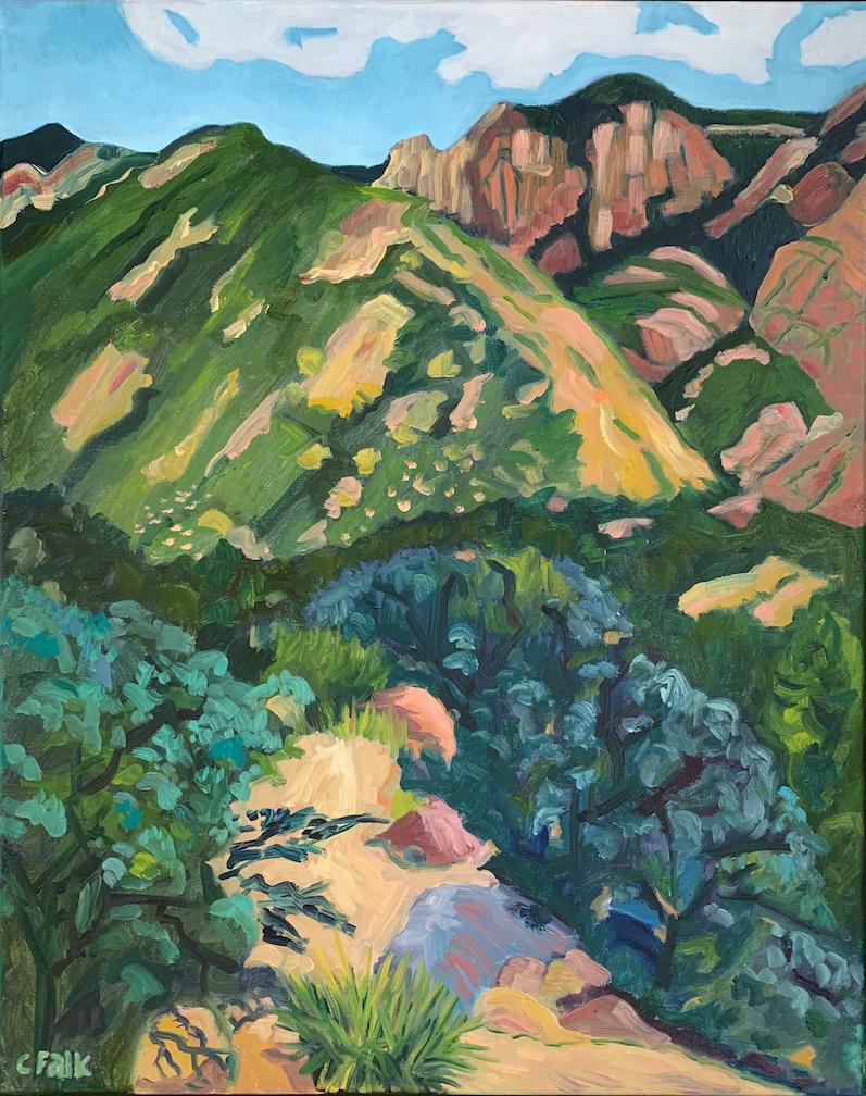 Connie Falk: Rock Cabin View