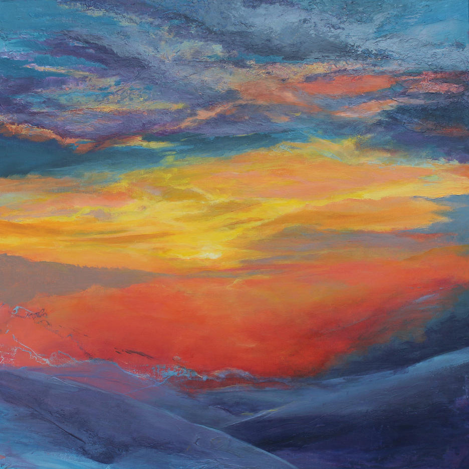 Carla Forrest: Sunset on Snowfield