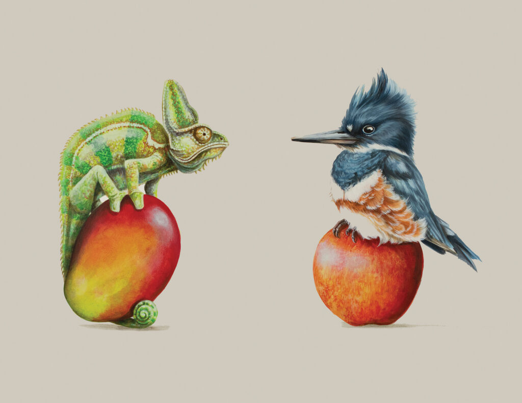 Tricia George: The Chameleon and The Kingfisher