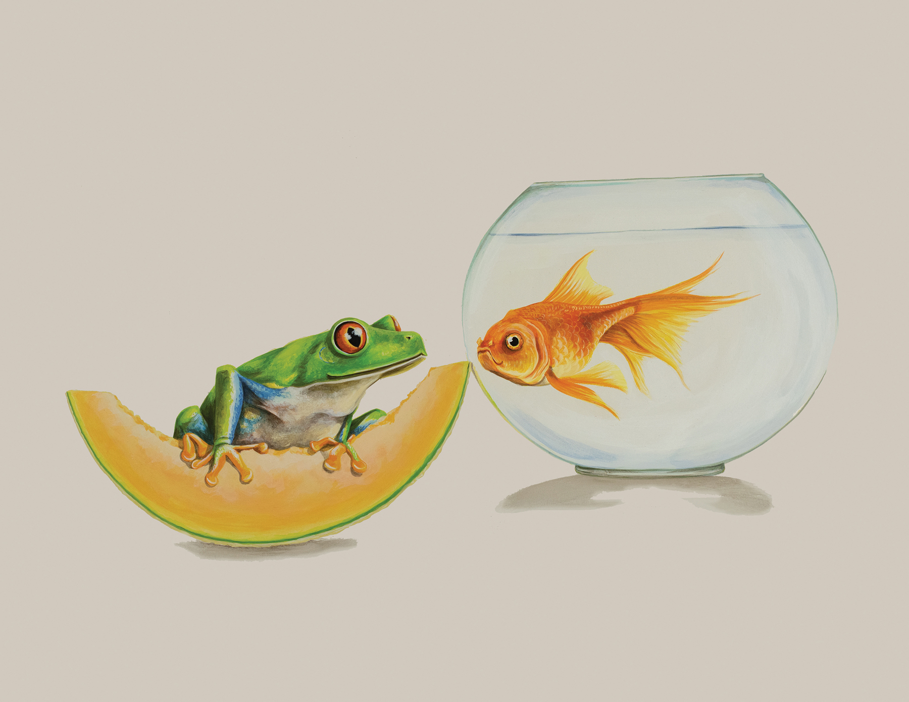 Tricia George: The Frog and the Goldfish