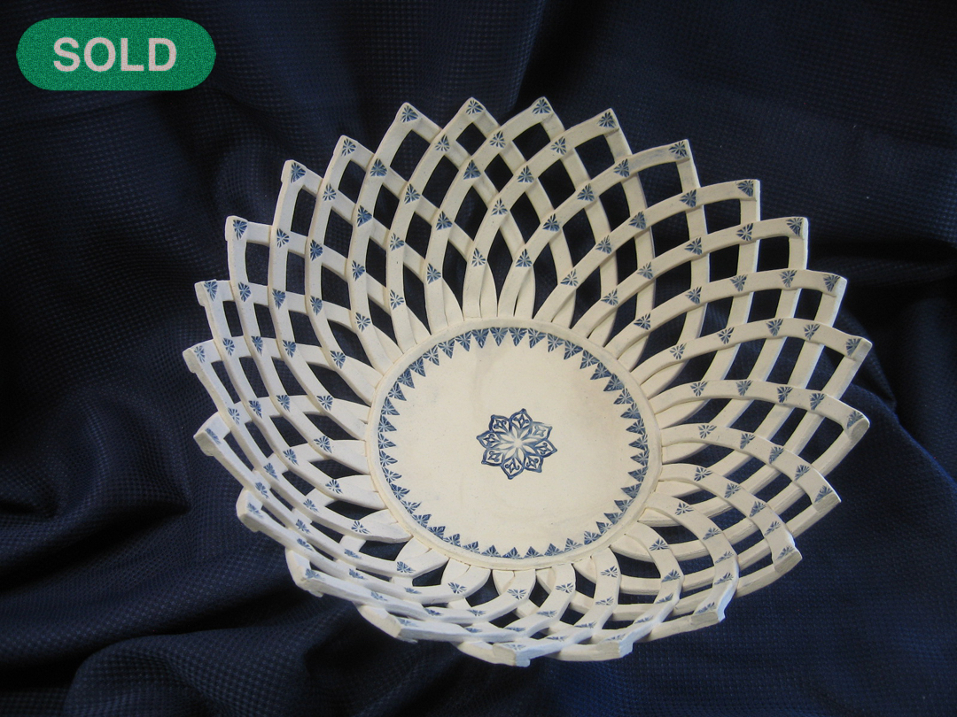 Rick Snow: White & Blue Basket SOLD