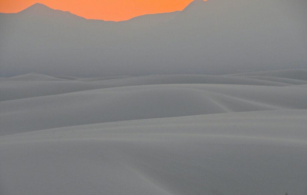David D. Sorensen: White Sands-Orange Sky