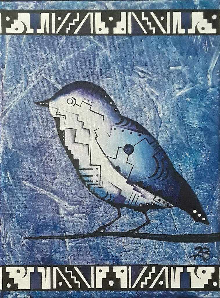 Brandon Allebach: Winter Bird In Blue