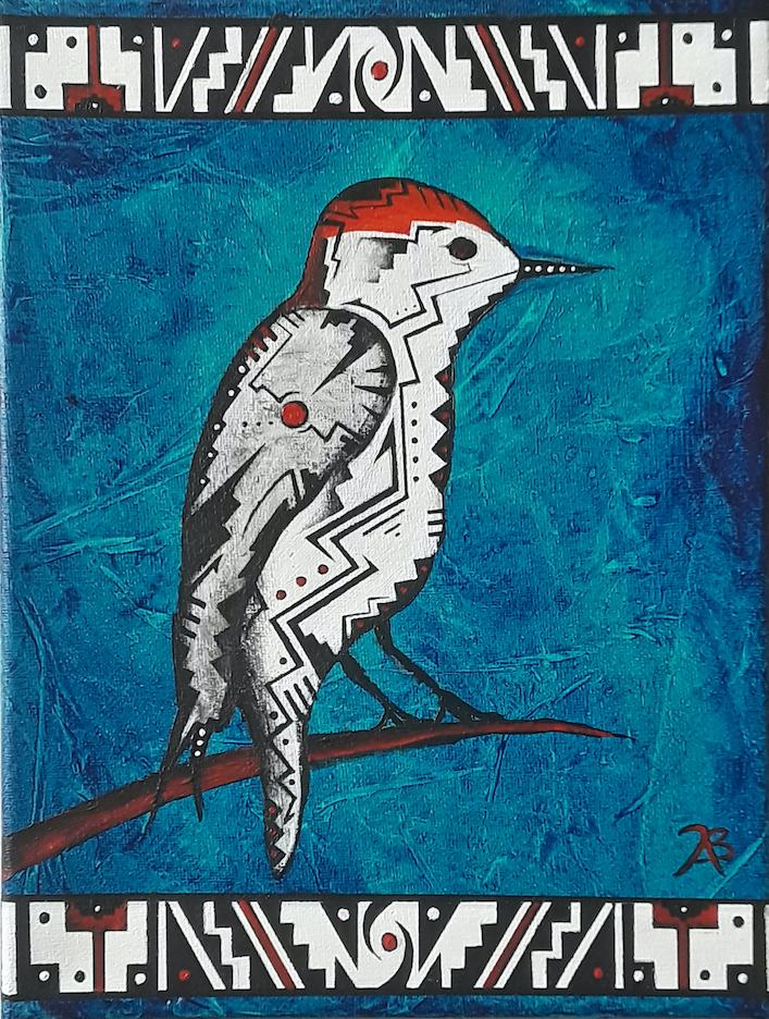 Brandon Allebach: Woodpecker in Blue
