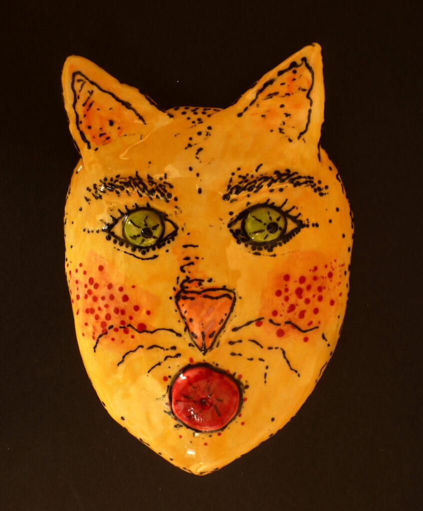 Lesley Long: Yellow Cat Green Eyes