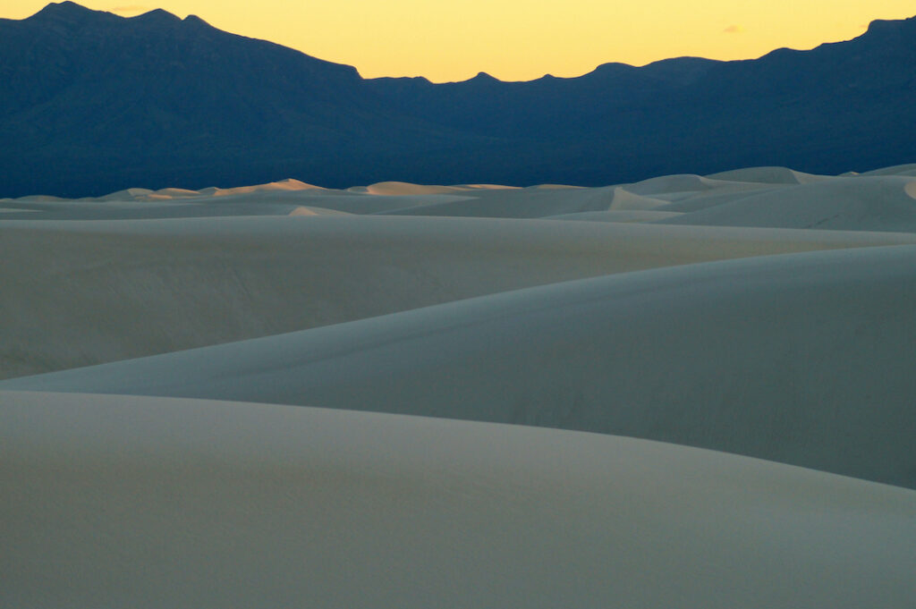 David D. Sorensen: Yellow/Blue/Taupe, White Sands