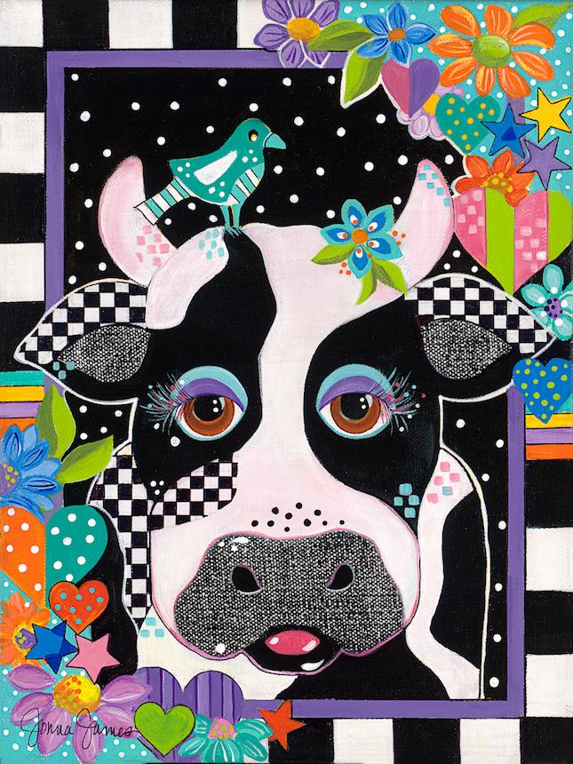 Jonna James: Barnyard Beauties -  Cow