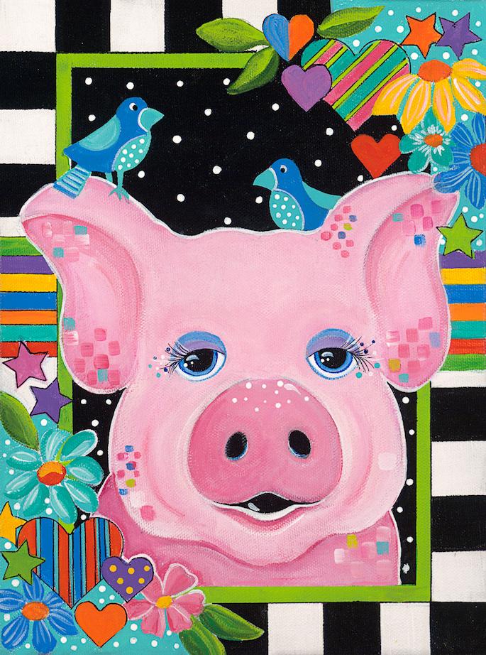 Jonna James: Barnyard Beauties - Pig