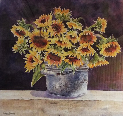 Carol Sparks: Bouquet of Sunflowers