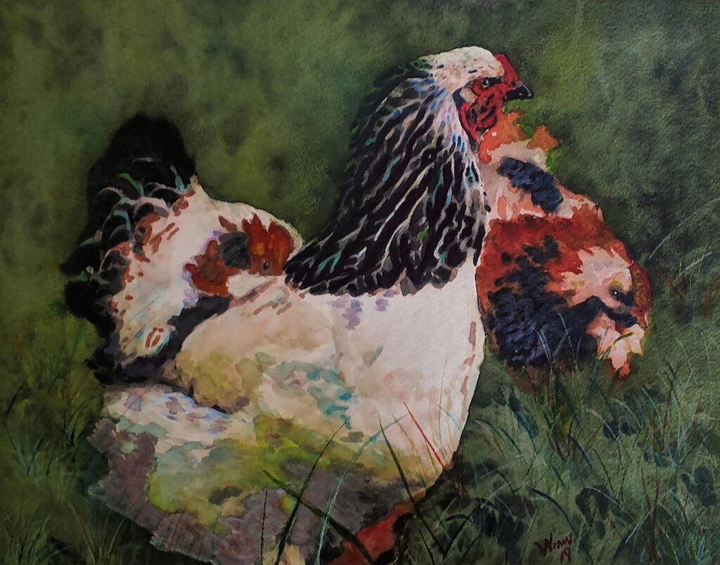 Penny Winn: Chickens in the Yard