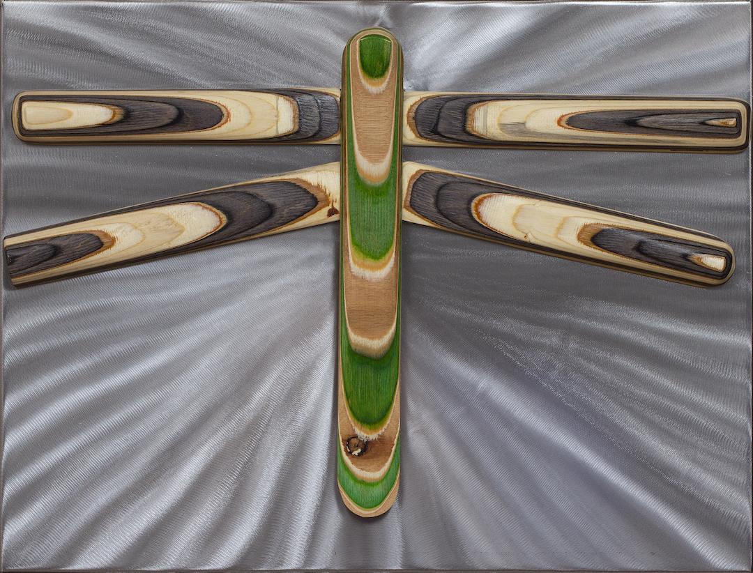 Greg Lujan: Green/Black dragonfly