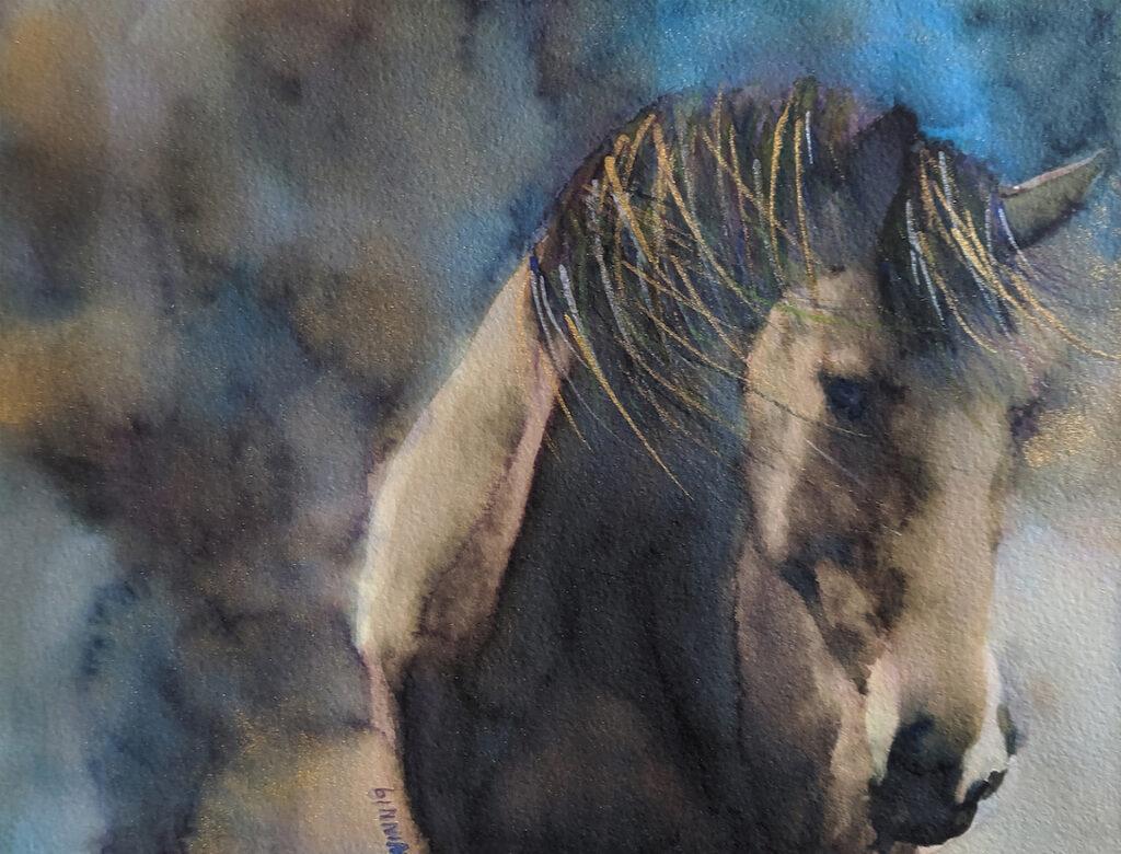Penny Winn: Walking in the Wind - Horse Portrait