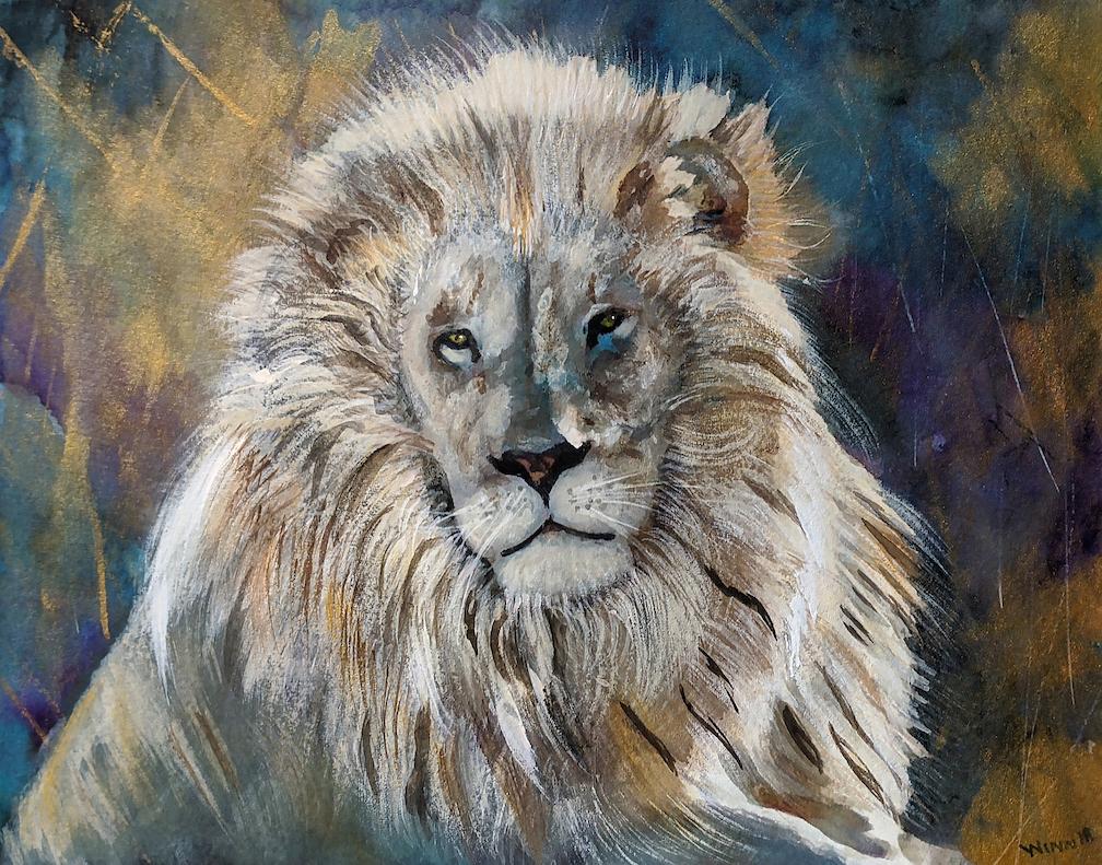 Penny Winn: White Lion Portrait