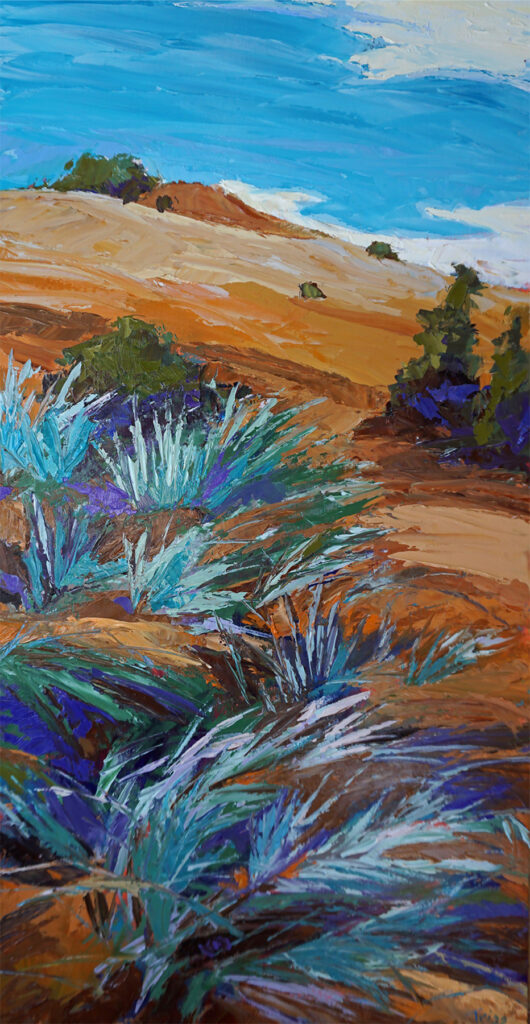 Peggy Trigg: Blowing Brush