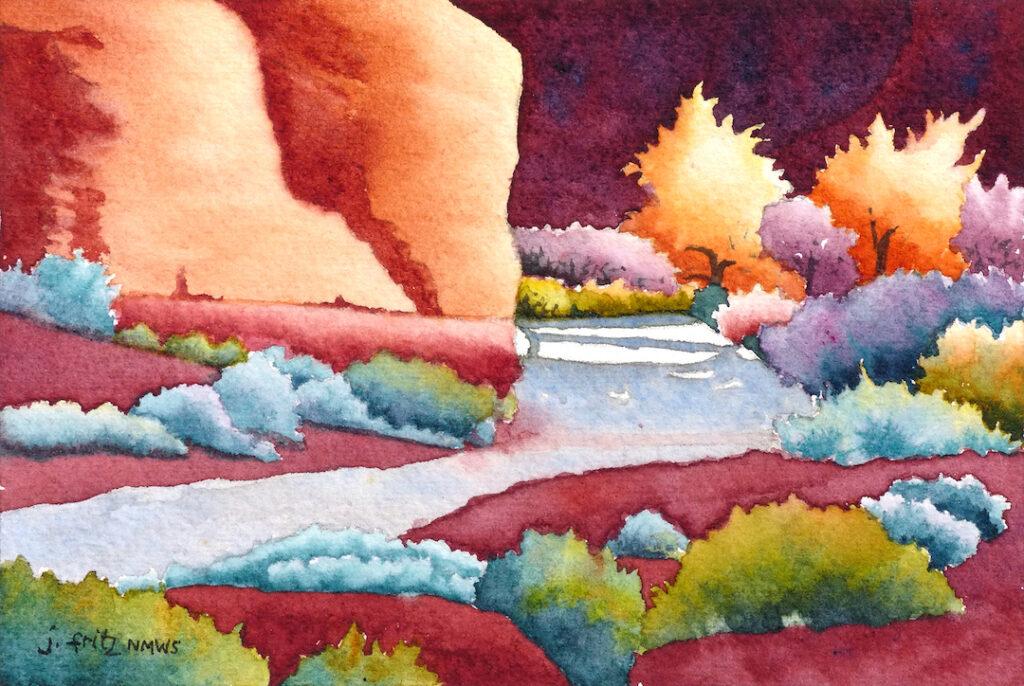 Jane Fritz: Dawn at Indian Creek
