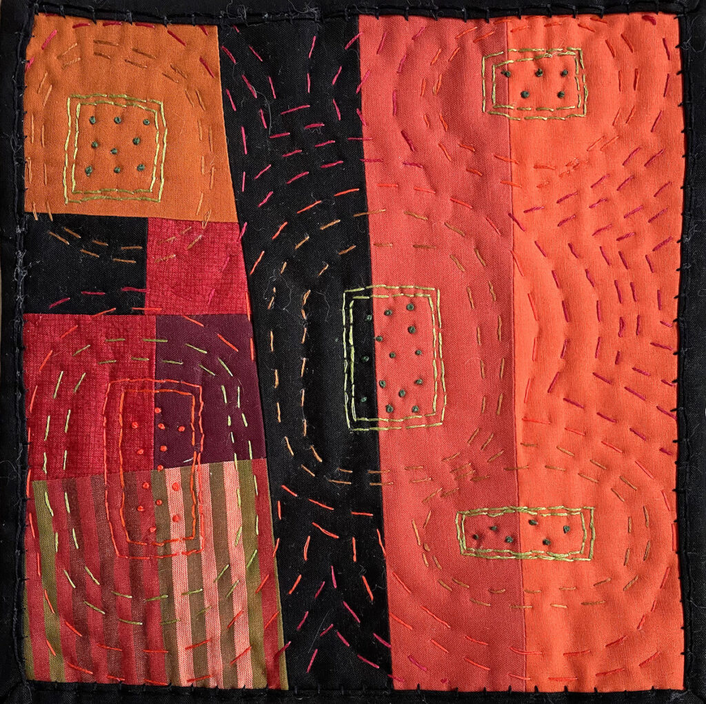 Peggy Trigg: Meditations in Fiber-Circles or Strips?