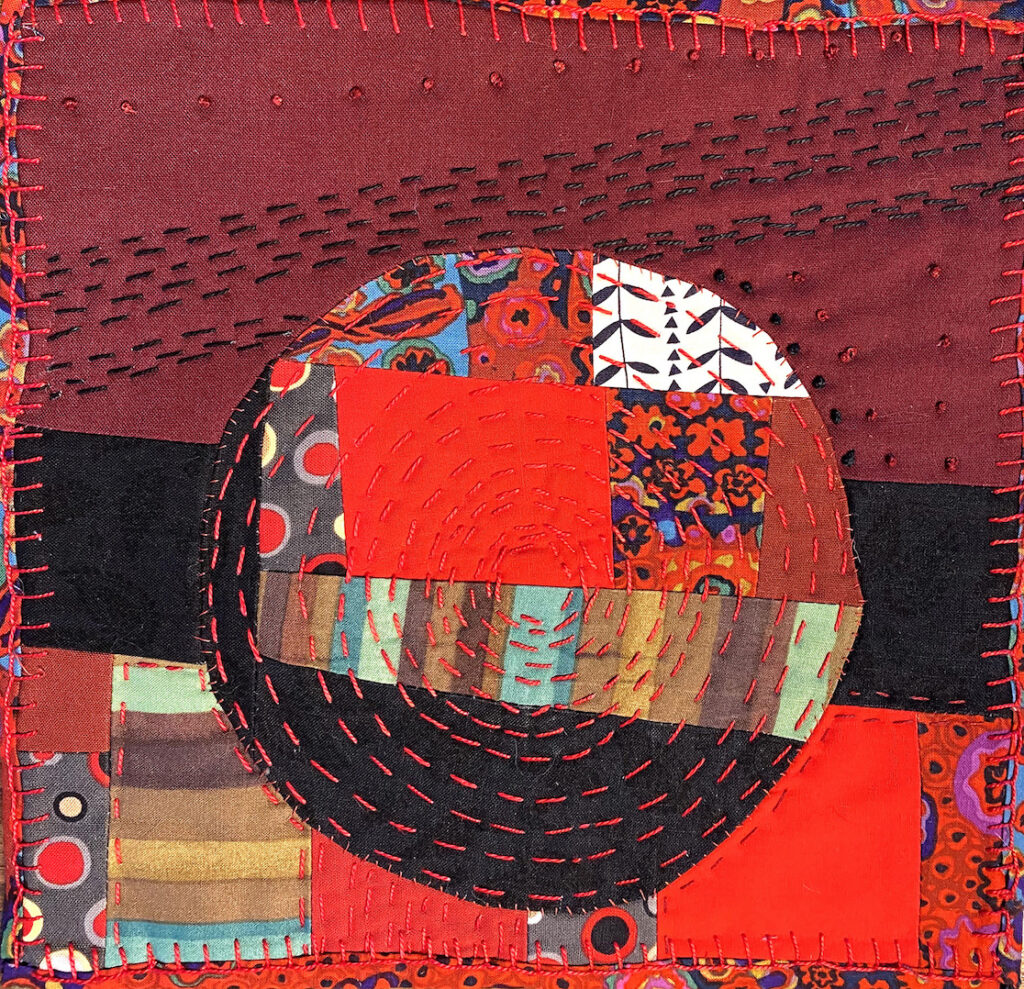 Peggy Trigg: Meditations in Fiber-Isolated in Red