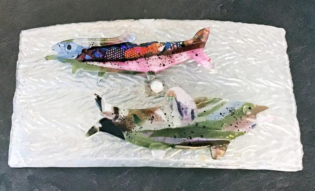 Linda Boyes: Rainbow Trout on Water