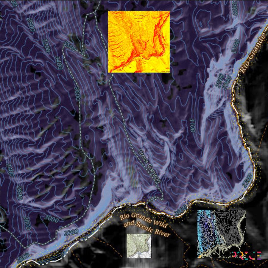 Jonathan Reeve Price: The Liquid Border; Cross Canyon