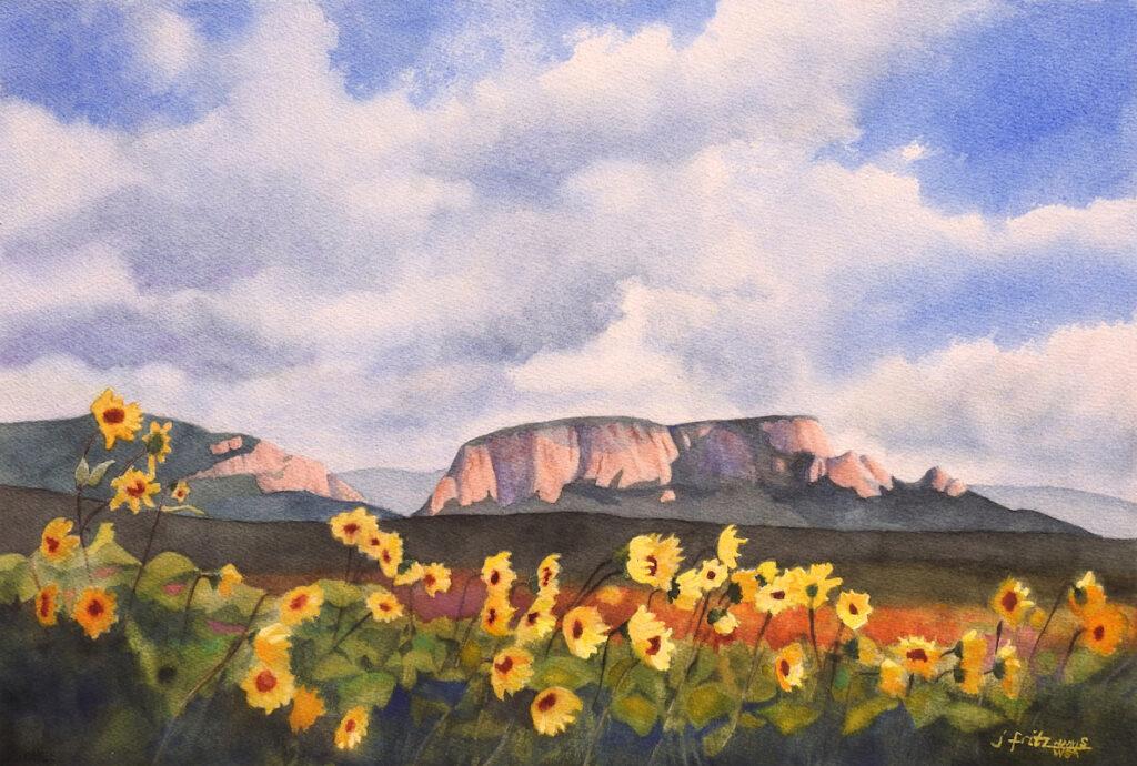 Jane Fritz: Windy Day at Hermit's Peak